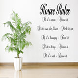 House Rules Wall Quote WSD492