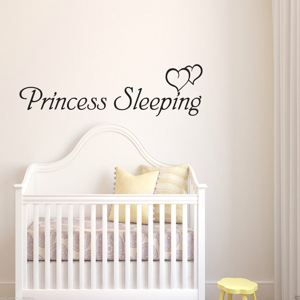 Princess Sleeping Wall Quote WSD597
