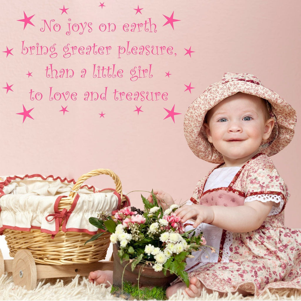 Little Girl To Love and Treasure Wall Quote WSD510