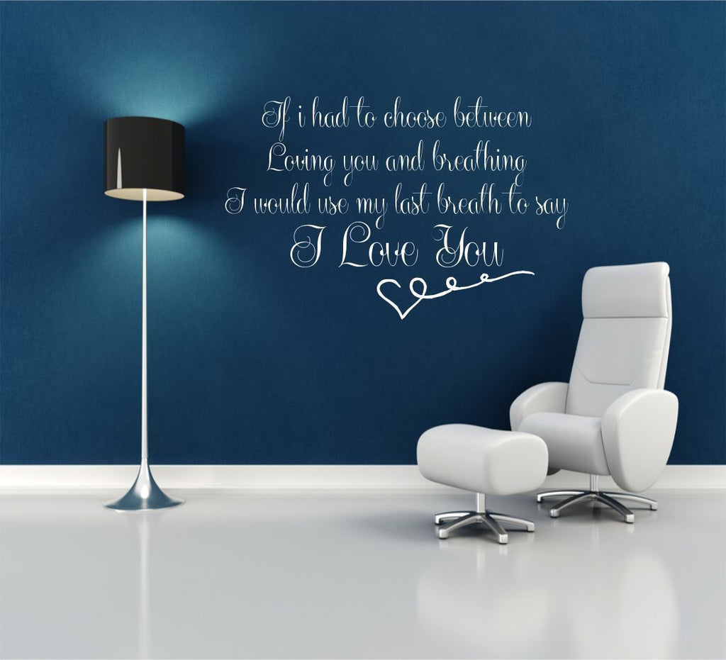I Love You His Hers Wall Quote WSD429
