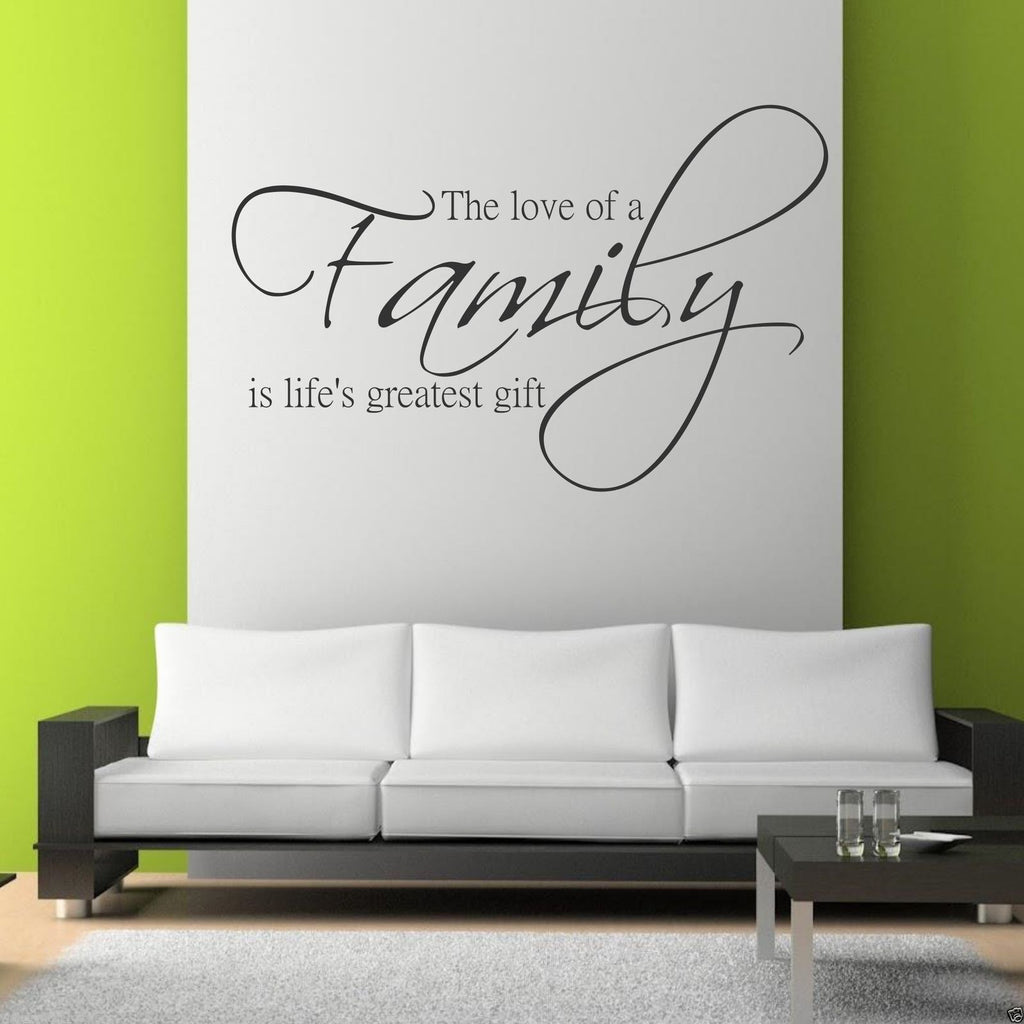 Family Love Life Wall Quote WSD419