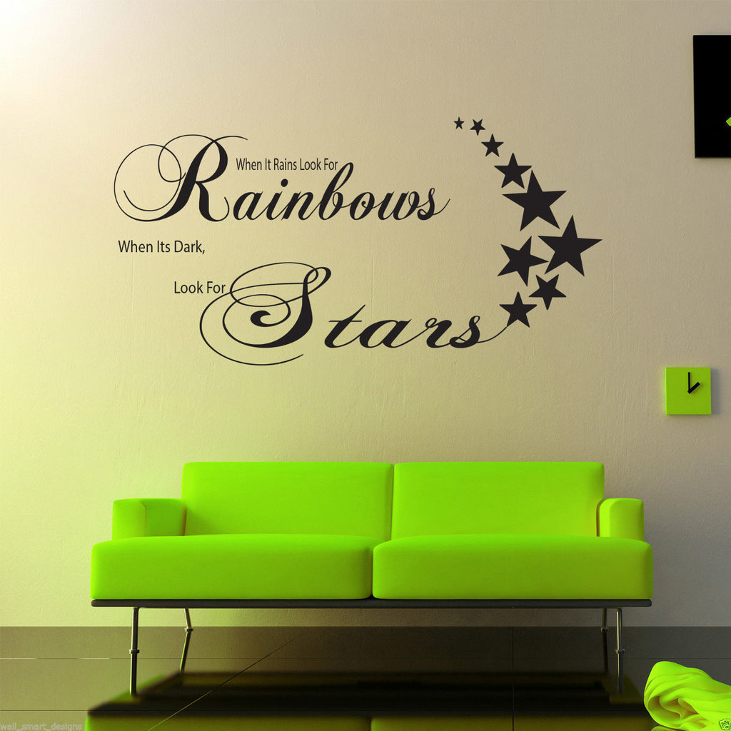 Rainbows Stars Wall Quote WSD384