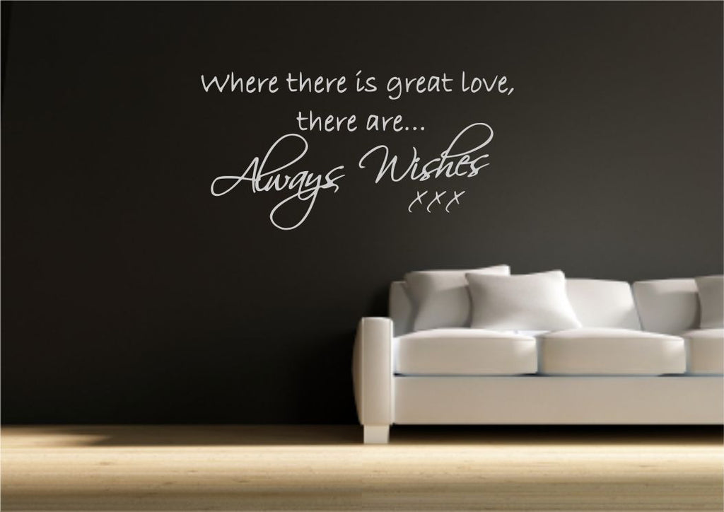 Always Wishes Wall Quote WSD394
