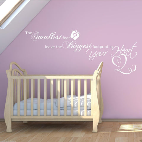 Baby Footprints Wall Quote WSD399