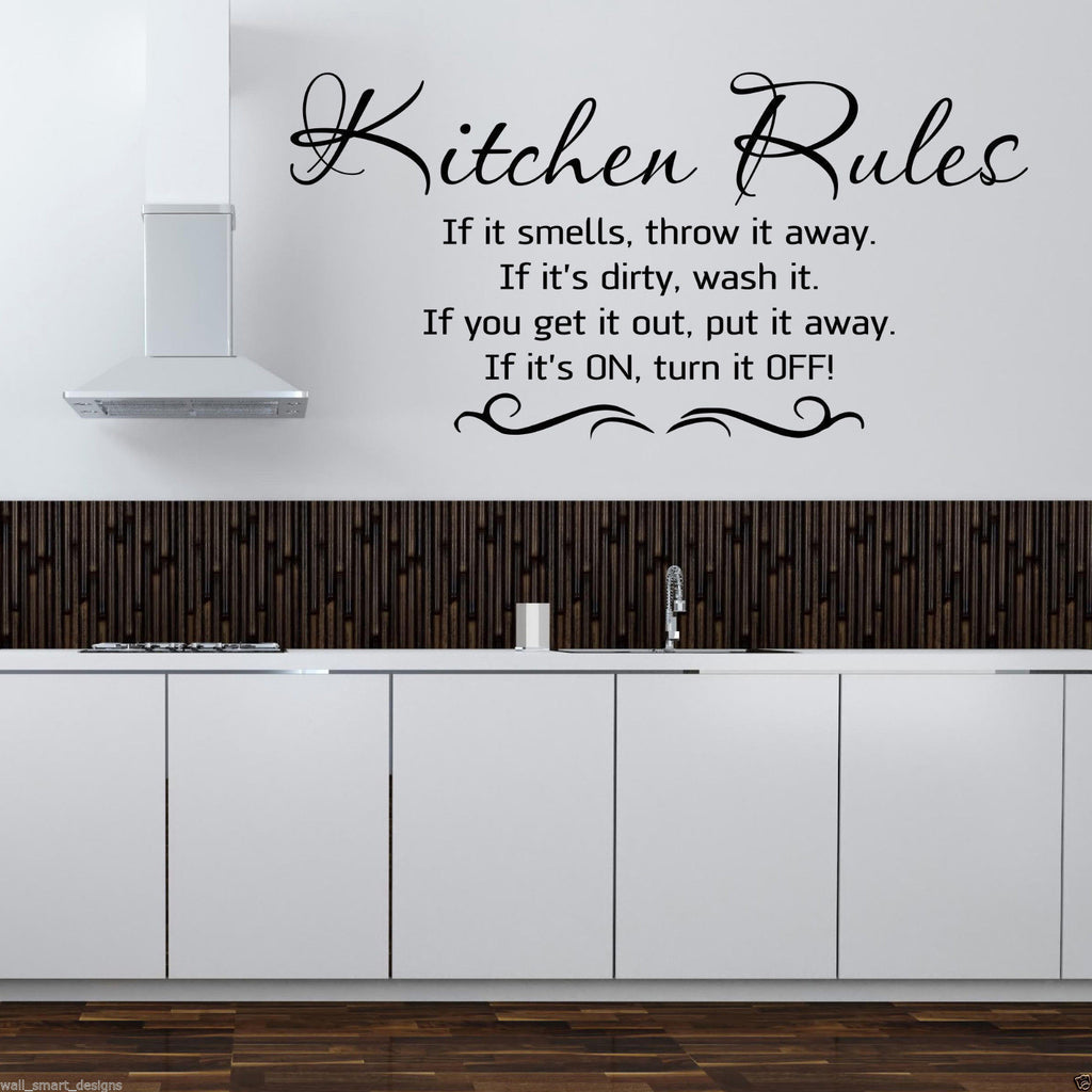 Kitchen Rules Wall Quote WSD506