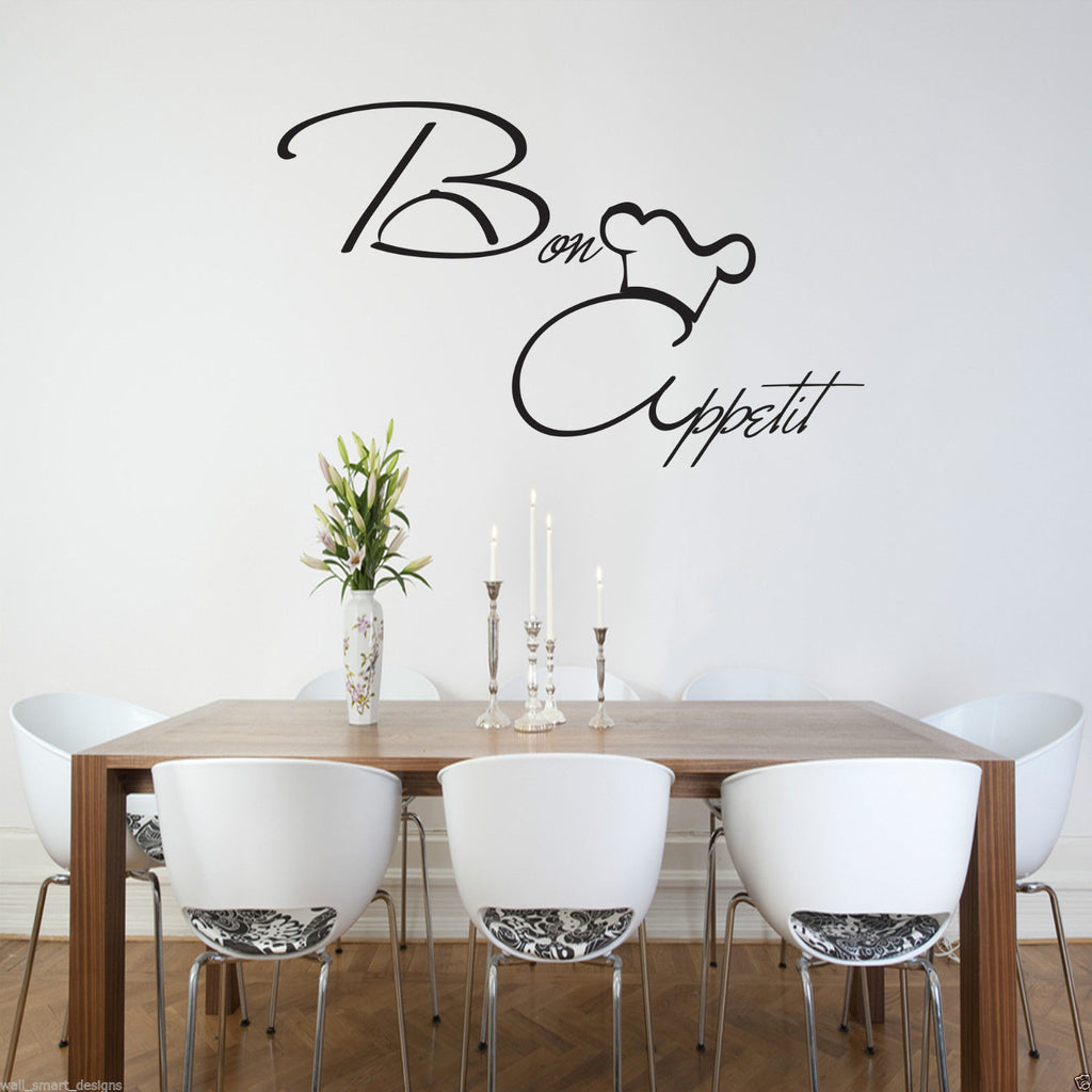 Bon Appetit Kitchen Wall Quote WSD454