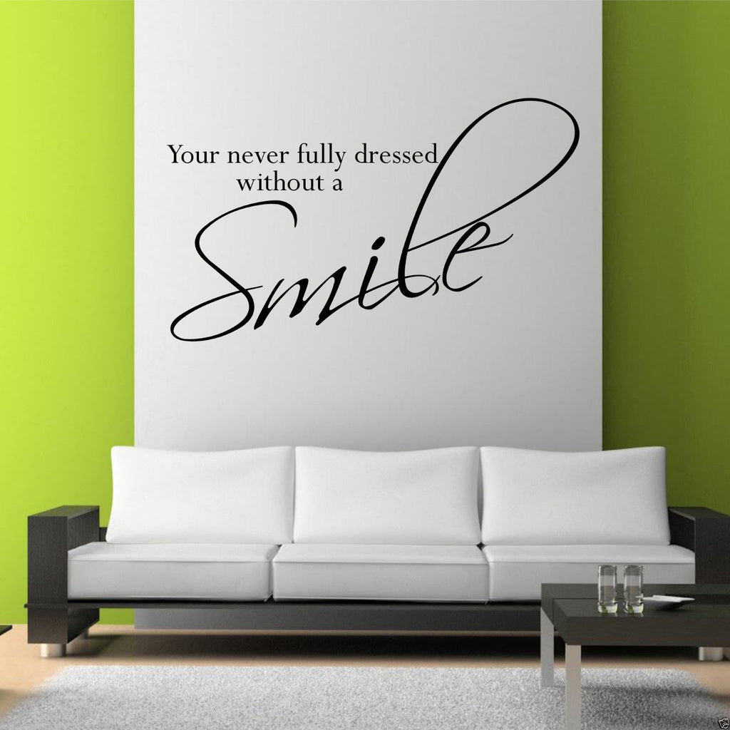 Smile Wall Quote WSD365