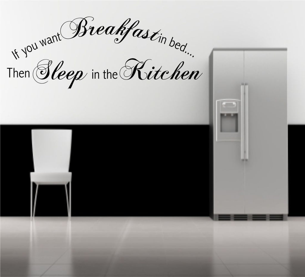 Breakfast In Bed Wall Quote WSD456