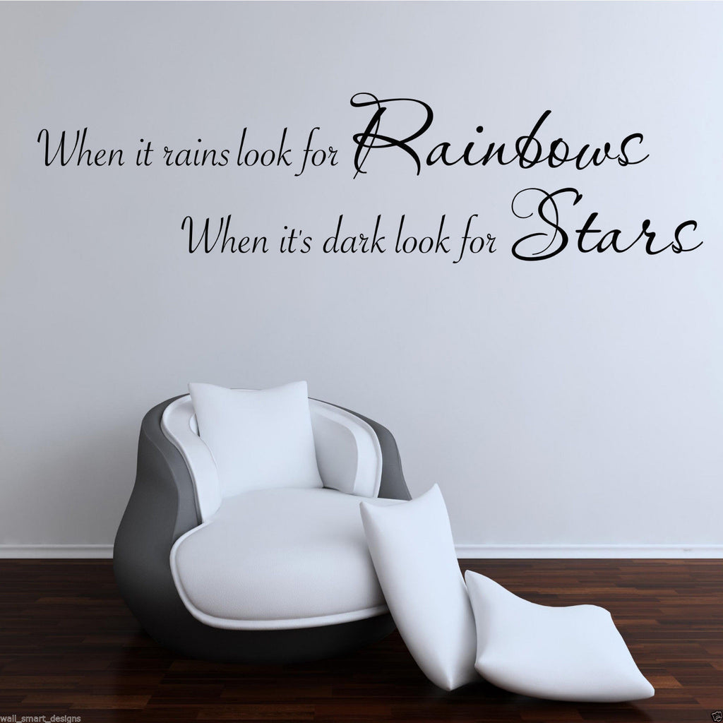 Rainbows Stars Wall Quote WSD383