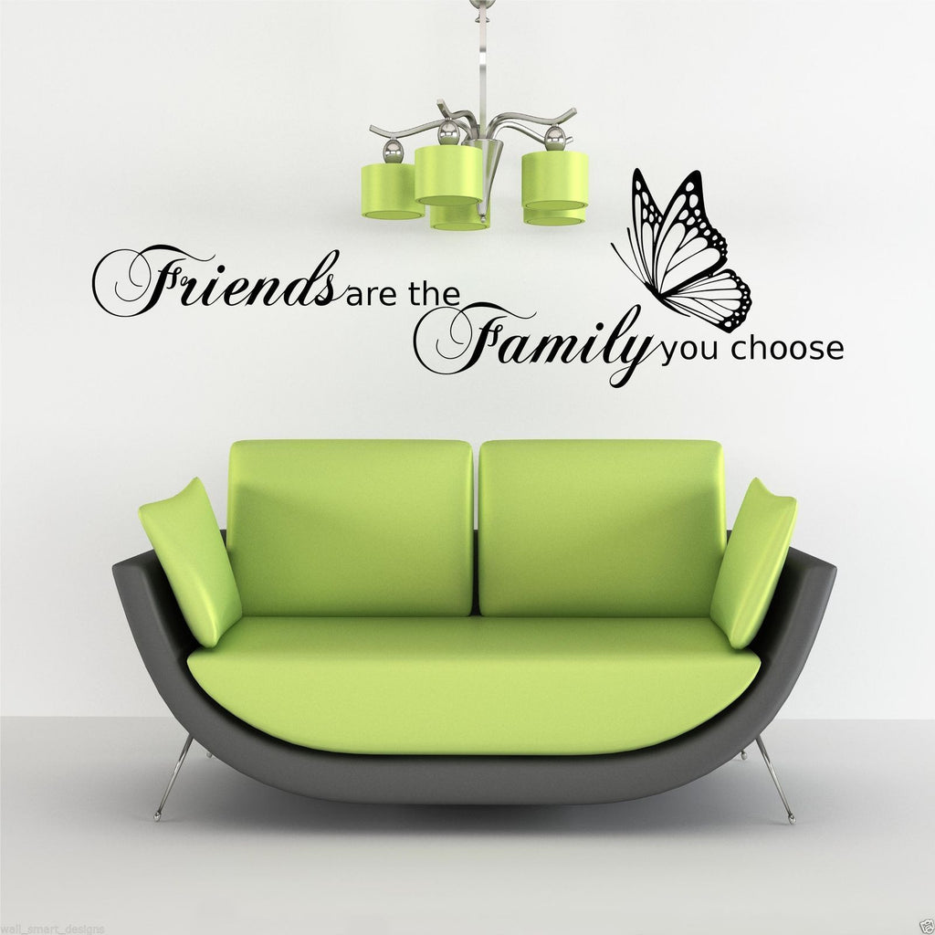 Friends Are The Family You Choose Wall Quote Wsd490 Peachy Cards