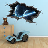 3D Space Planet Wall Sticker WSD567