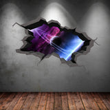 3D Space Wall Sticker WSD348