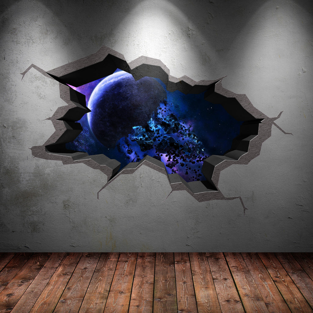 3D Space Planet Wall Sticker WSD568