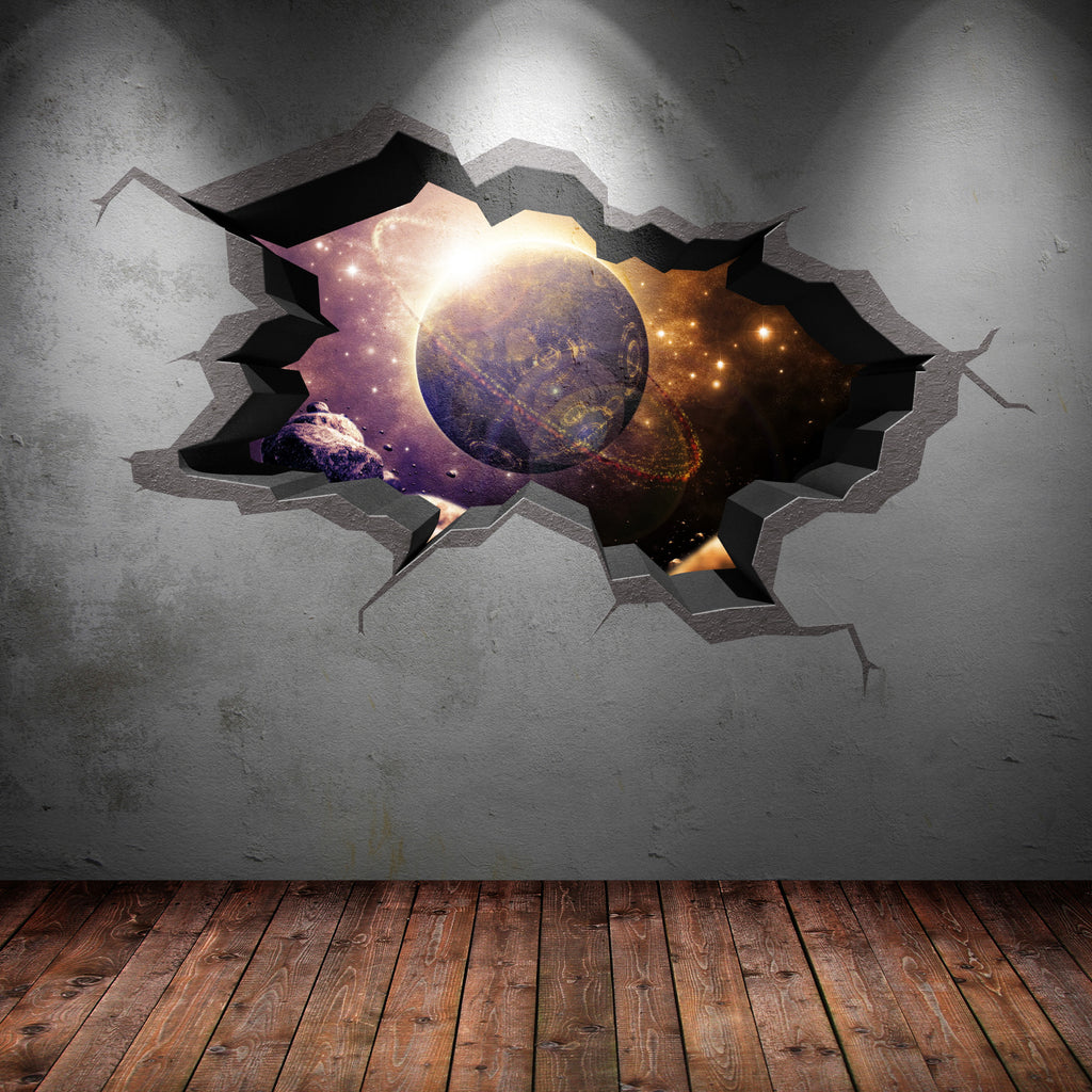 3D Space Planet Wall Sticker WSD566