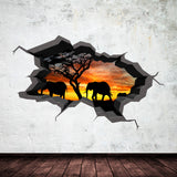 3D Elephant Wall Sticker WSD255