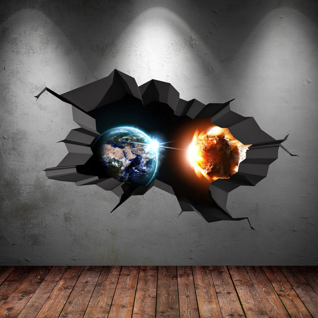 3D Space Planet Wall Sticker WSD560