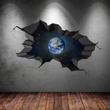 3D Space Planet Wall Sticker WSD558