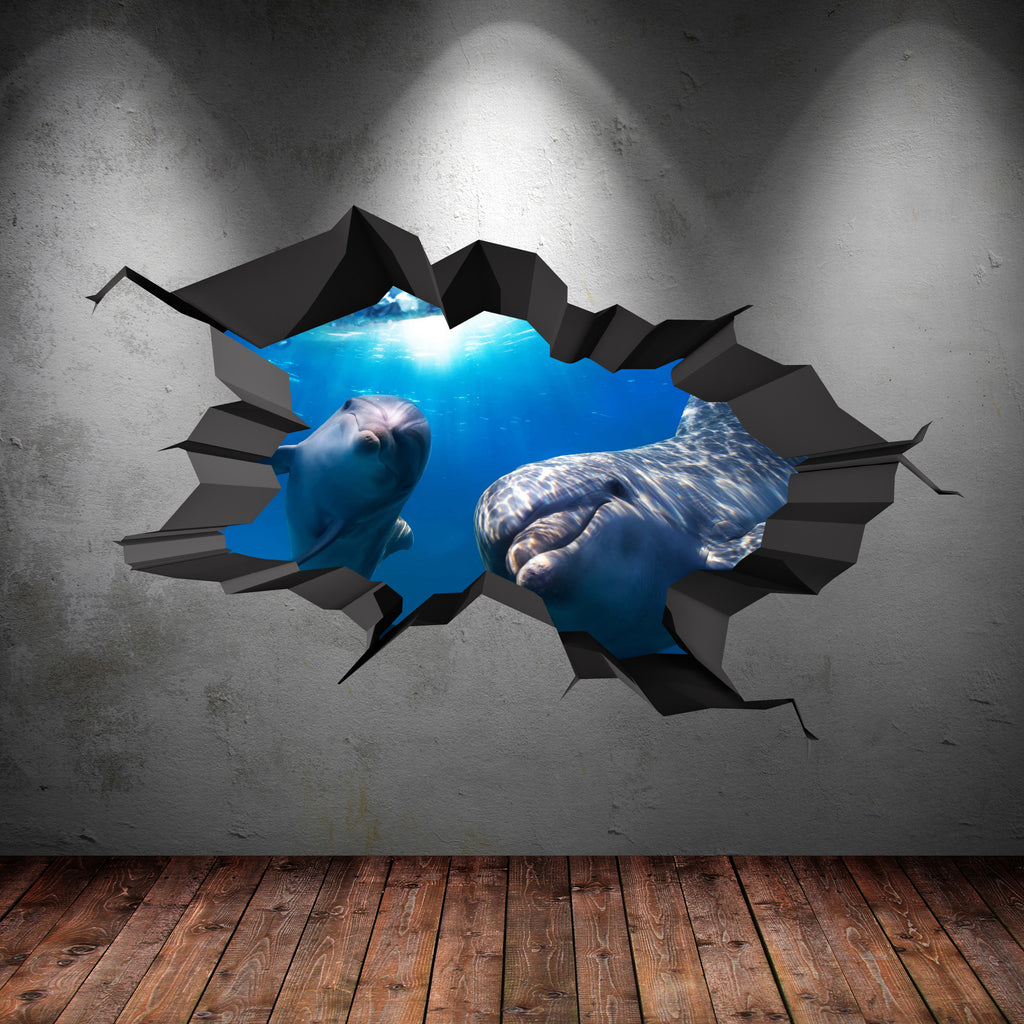 3D Dolphin Wall Sticker WSD88