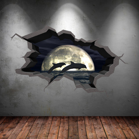 3D Dolphin Wall Sticker WSD248