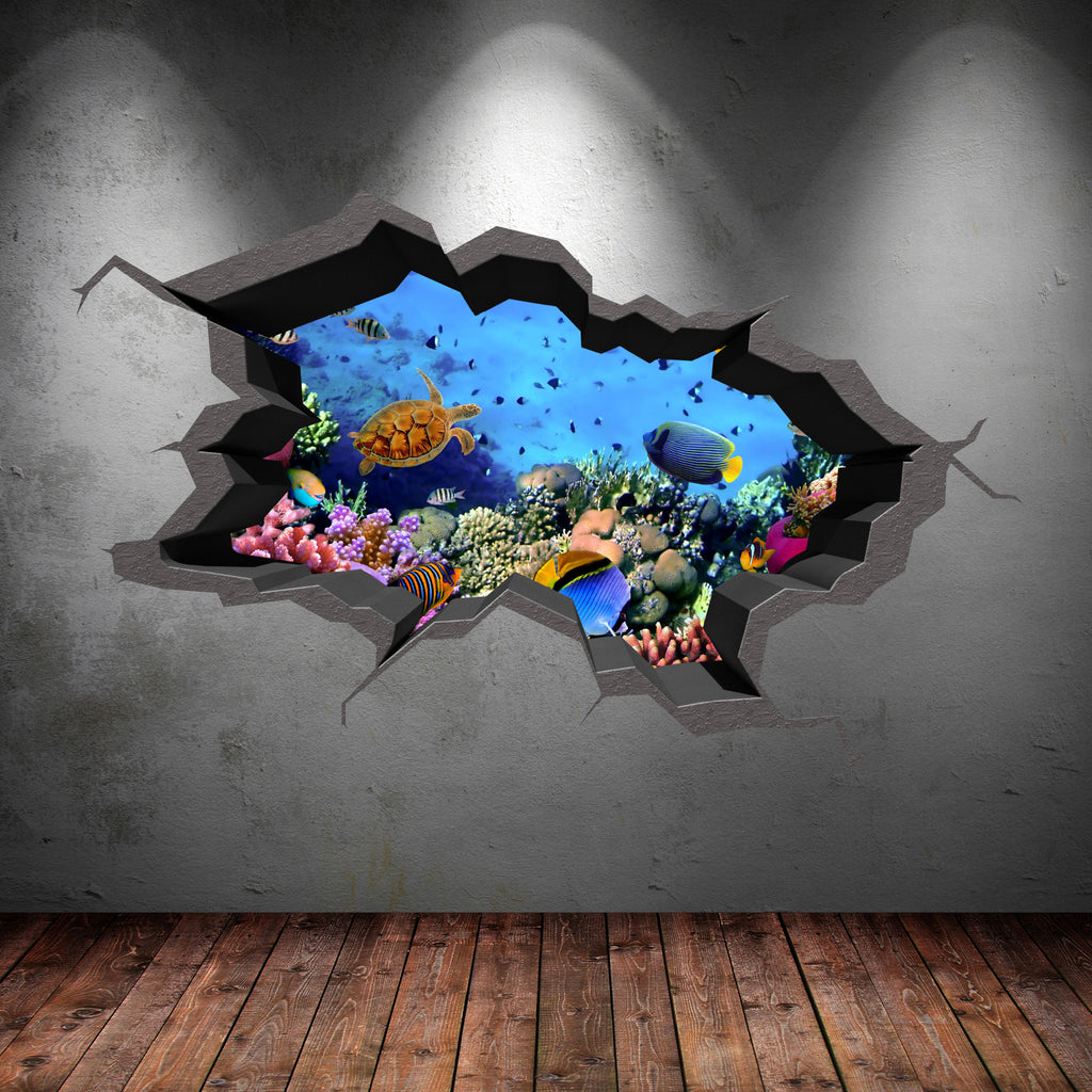 3D Aquarium Wall Sticker WSD236