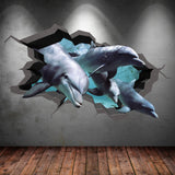 3D Dolphin Wall Sticker WSD247