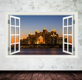 3D Atlantis Dubai Window Wall Sticker WSD238