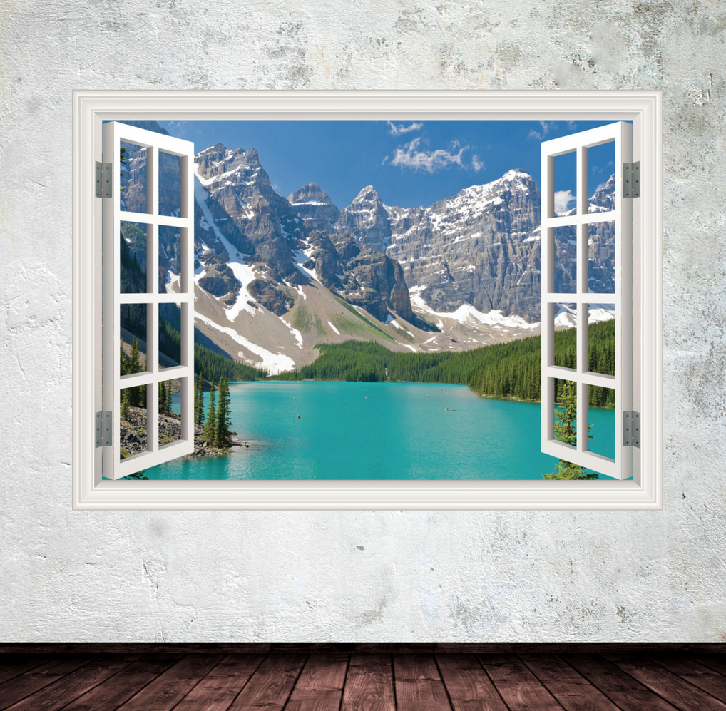 3D Rockies Window Wall Sticker WSD425