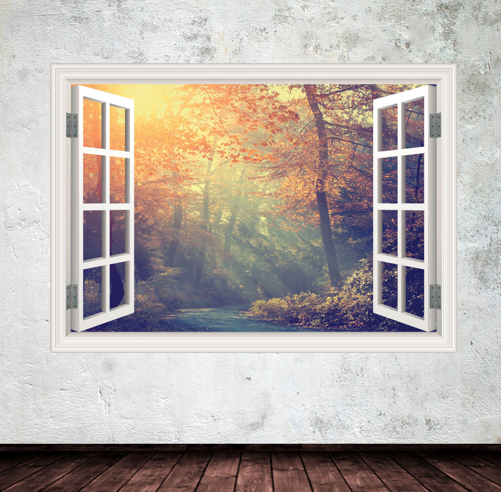 3D Jungle Walk Window Wall Sticker WSD250