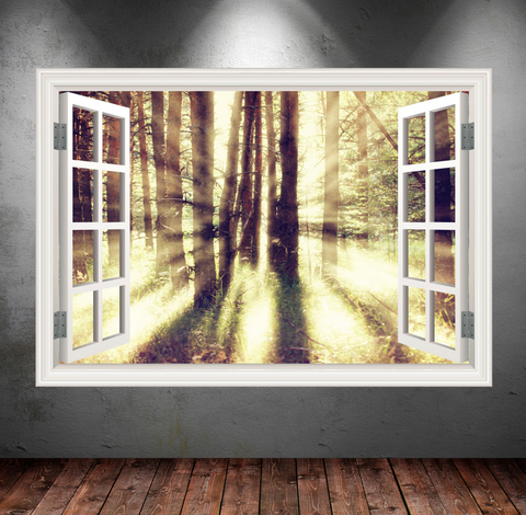 3D Dream Woods Window Wall Sticker WSD251