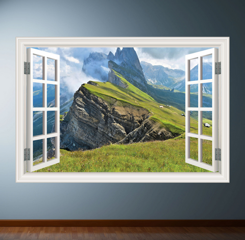 3D Coast Window Wall Sticker WSD246