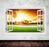 3D Golf Course Window Wall Sticker WSD300
