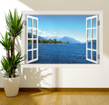 3D Sunset Paradise Window Wall Sticker RW WSD550