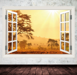 3D Sunrise Window Wall Sticker WSD612