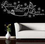 Live Laugh Love Wall Quote WSD435