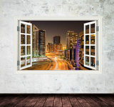 3D Syline Window Wall Art Sticker WSD35