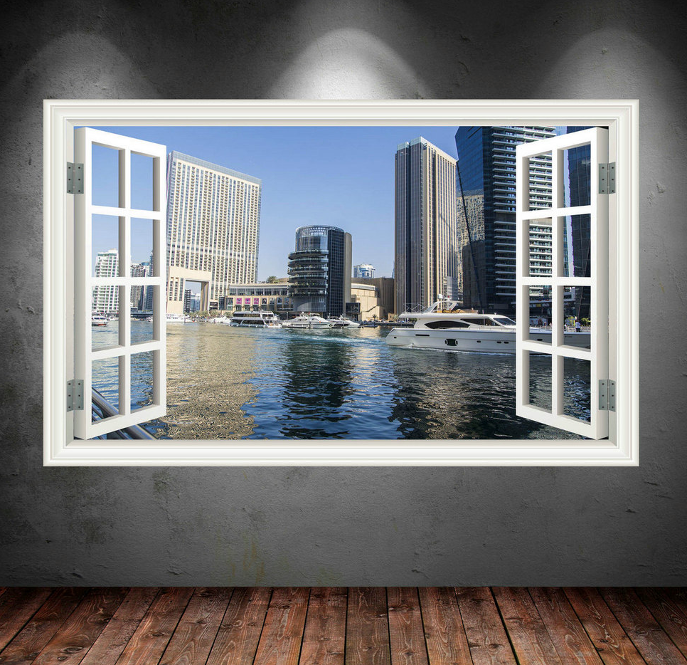 3D Dubai Window Wall Sticker WSD30