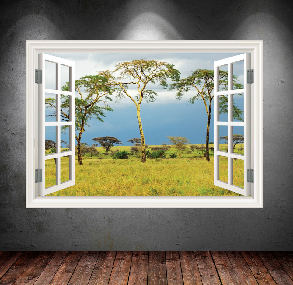 3D Wild Jungle Tree Window Wall Sticker WSD27