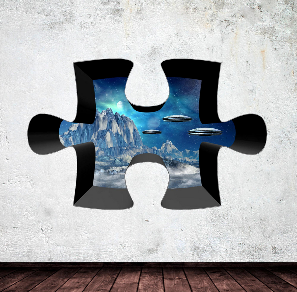 3D Jigsaw Space Wall Sticker WSD327