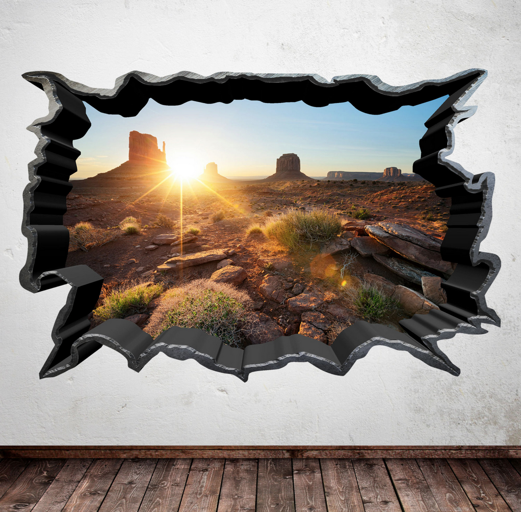 3D Nevada Desert Wall Sticker WSD412