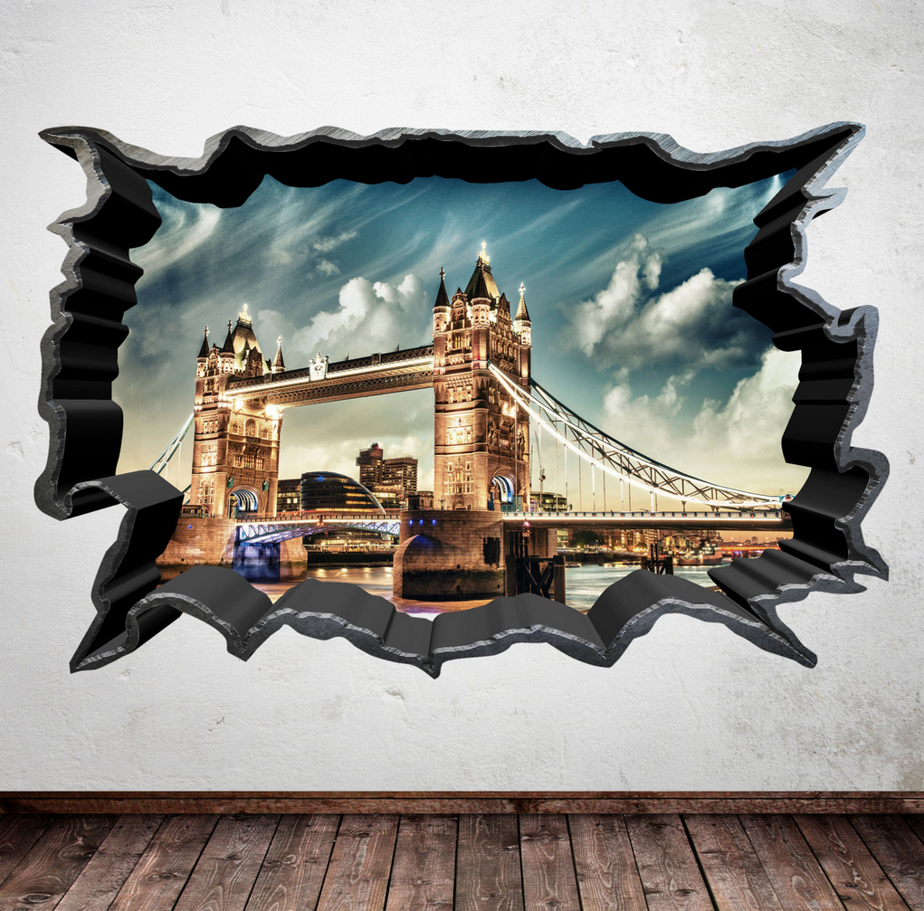 3D London Bridge Wall Sticker WSD363