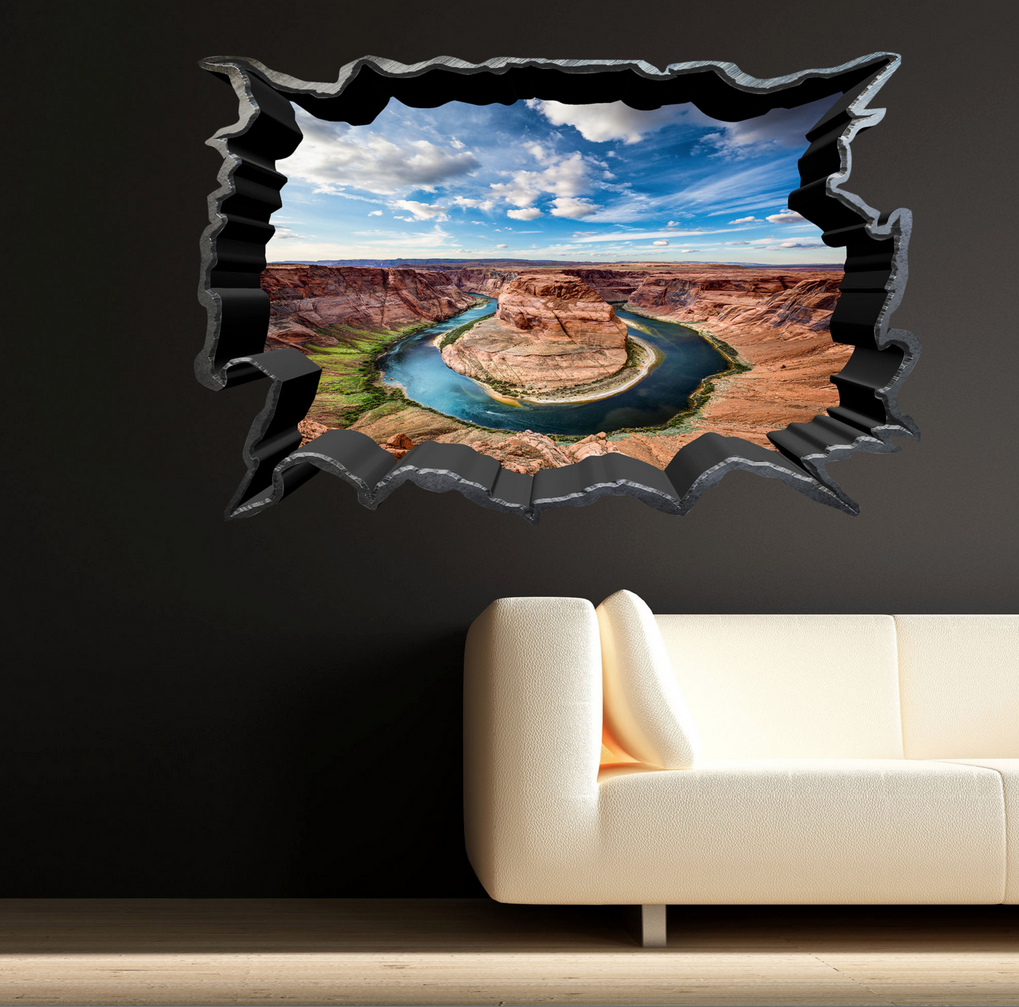 3D Lake Mountain Wall Sticker WSD244