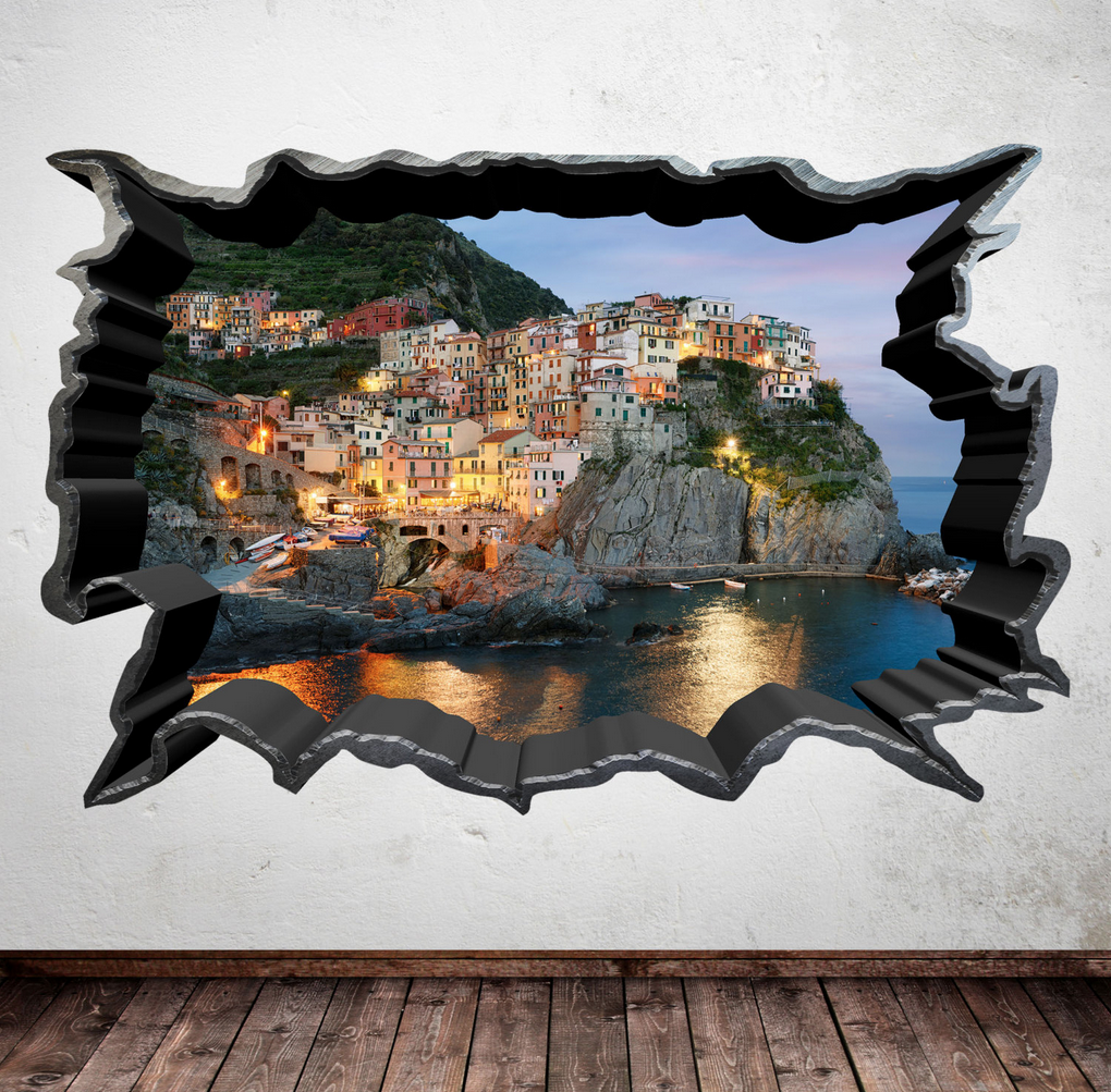 3D Greek Cliffs Wall Sticker WSD302