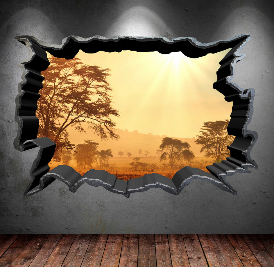 3D Safari Wall Sticker WSD557