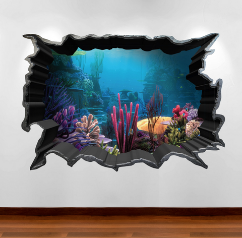 3D Aquarium Wall Sticker WSD80