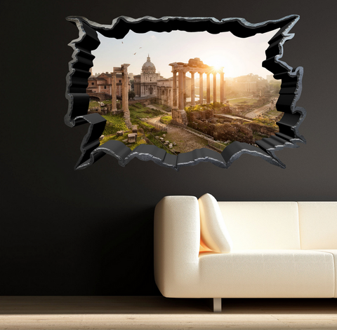 3D Ancient Italian Ruins Wall Sticker WSD234
