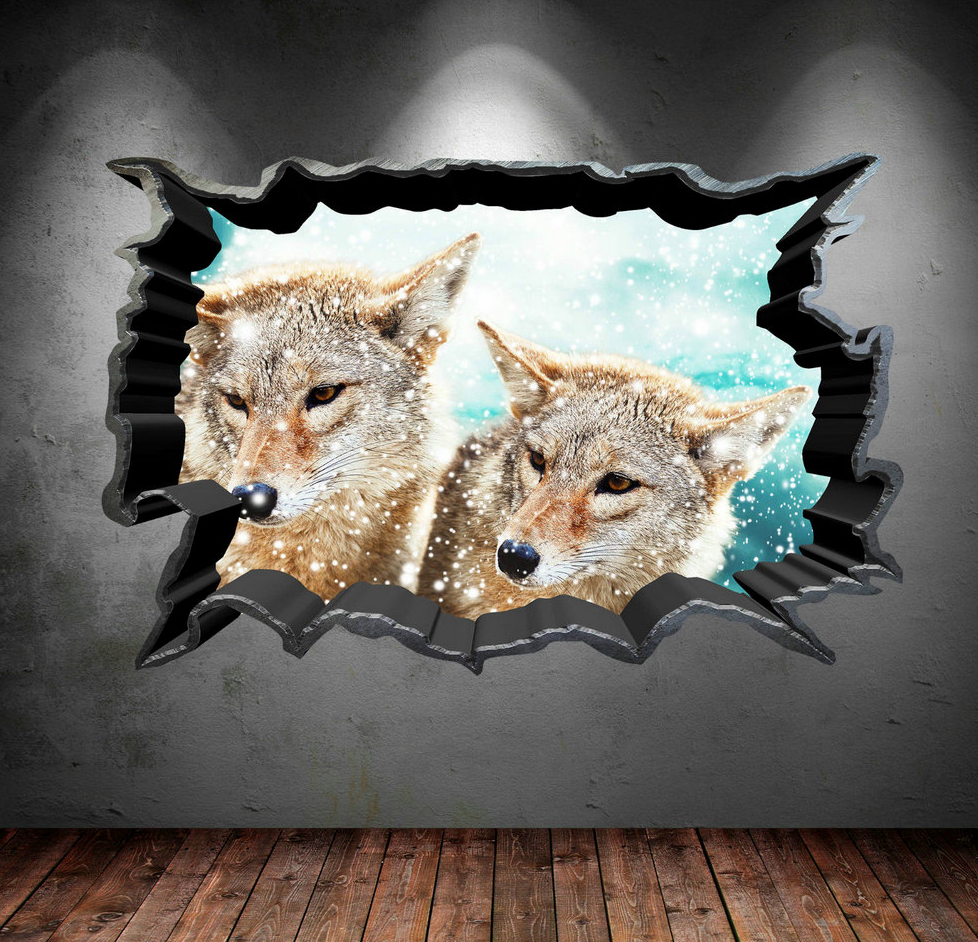 3D Wild Fox's Wall Sticker WSD33