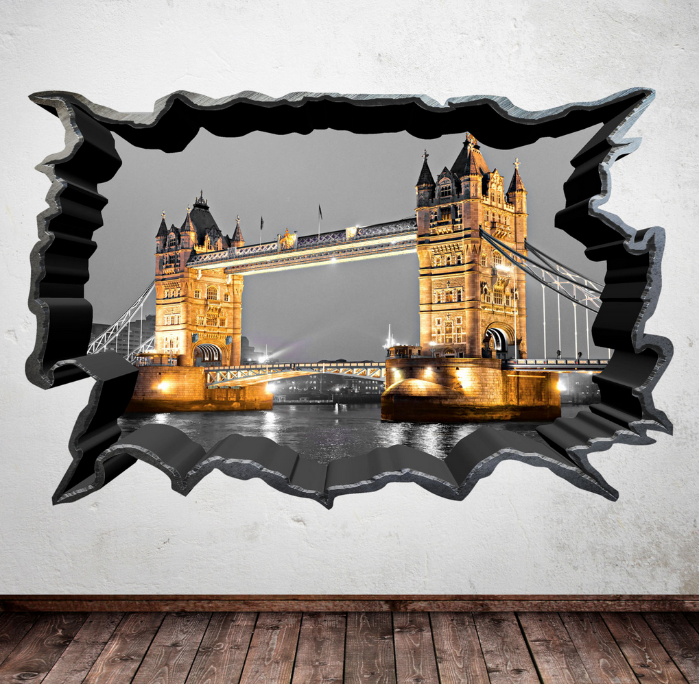 3D London Bridge Skyline Wall Sticker WSD40