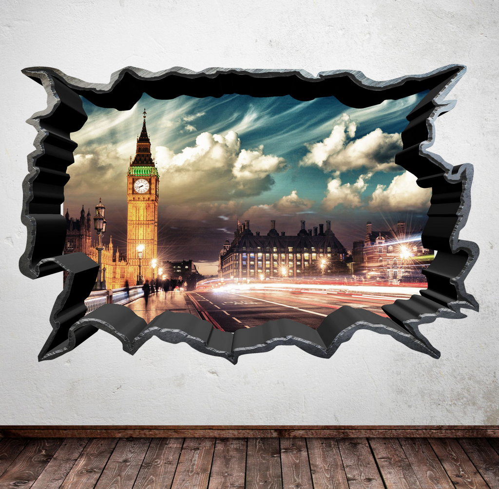 3D London Big Ben Wall Sticker WSD7