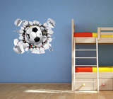 3D Football Wall Sticker WSD77