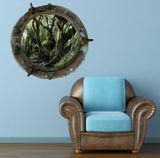 Full Colour 2D Forest Woods Porthole Wall StickerN WSD9